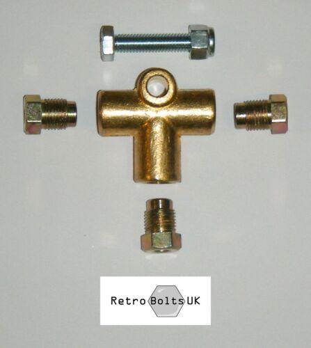 Female Brass T Piece Brake Union Mk1 Mk2 MK3 Escort Capri Fittings M10x1mm