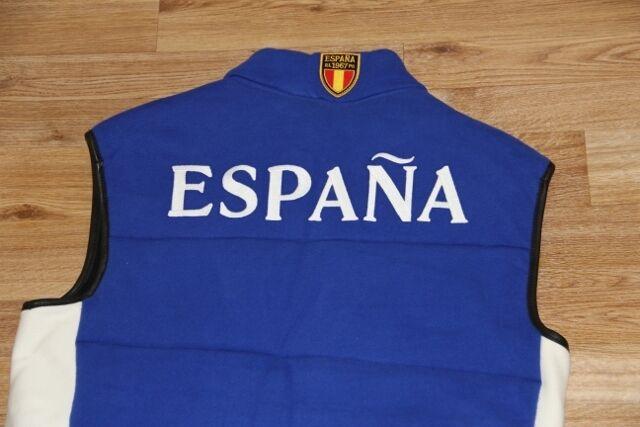 Ralph Lauren Down Quilted  Fleece Vest Royal Blau Spain Flag Big Pony Vest men S