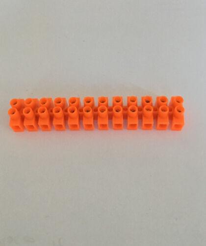 1 barette de 12 dominos connexion électrique 2,5mm² orange NEUF