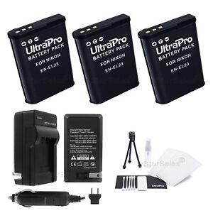 3x-EN-EL23-Replacement-Battery-Charger-for-Nikon-Coolpix-P900-P600-P610-S810c