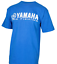 MENS BLUE YAMAHA PRO FISHING CREWNECK SHORT SLEEVE TEE FRONT LOGO SIZES S M L
