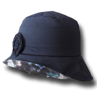 Cappello donna impermeabile tascabile Rain blu