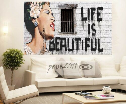 A0  art print poster Life is beautiful Mr alec baker licensed image to print