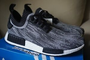 sale retailer c0273 9c84a Details about Adidas NMD R1 PK Glitch Grey Oreo S79478 black white size  11.5 US running
