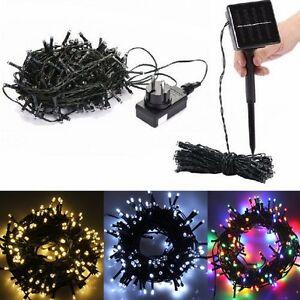 solar lichterkette led lichterschl uche garten party au en beleuchtung licht ebay. Black Bedroom Furniture Sets. Home Design Ideas