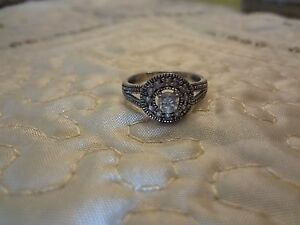 #61--VINTAGE ATI STERLING SILVER RING--925--SIZE-6--
