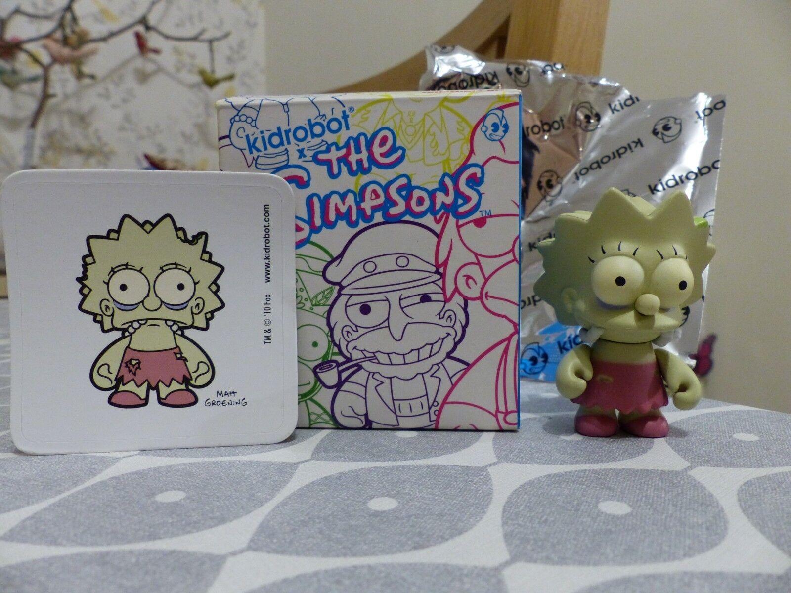 Kidrobot - Simpsons - Series 2 - Zombie Lisa 1 100 - extremely rare