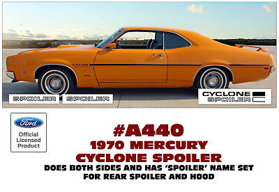 A450 1971 MERCURY CYCLONE SPOILER SIDE STRIPE KIT with HOOD /& TRUNK DECALS