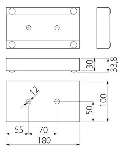 4pcs X en acier chromé pieds Plinthe Jambe canapé lit armoire armoires de cuisine meubles