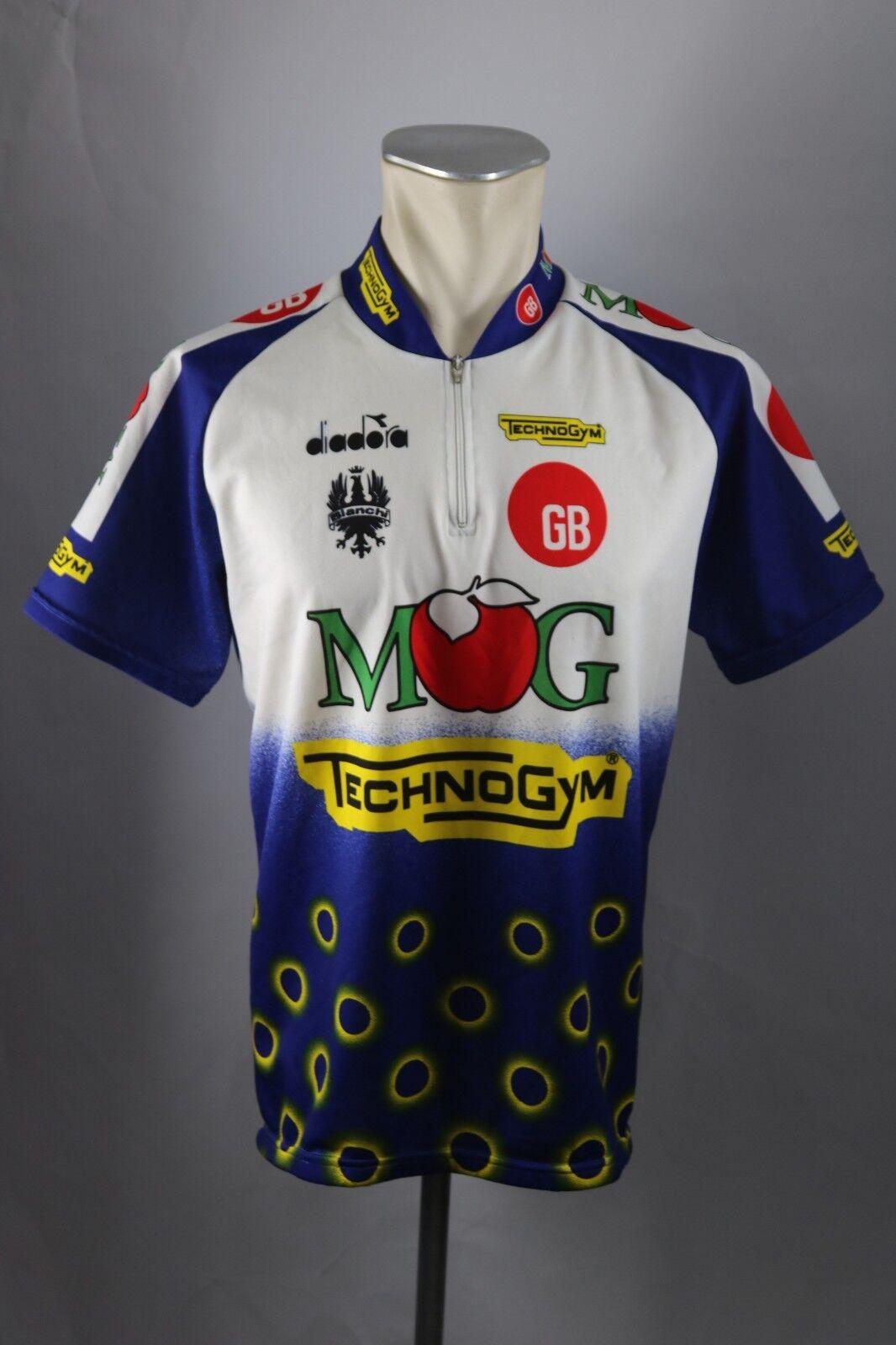 Diadora MOG TechnoGym Bianchi Rad Trikot XL XL XL XXL BW 59cm Bike cycling jersey S5 2d3268