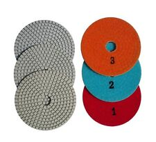 4 Inch 3 Step Set Diamond Polishing Pads For Granite Concrete Marble Stone