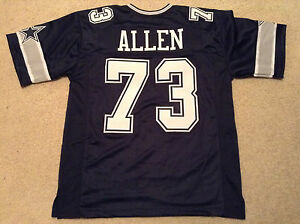 UNSIGNED CUSTOM Sewn Stitched Larry Allen Blue Jersey - Extra ...