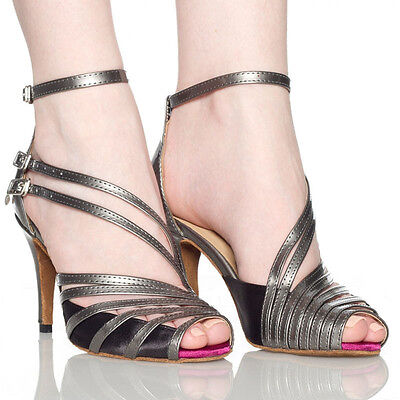 Modern Women's Luxury Shoe High Heel Latin Satin Ballroom Salsa Dance Shoes Nice