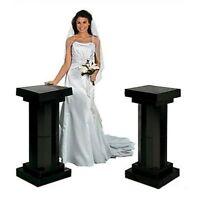 Outdoor Indoor Fluted 2 Column Elegant 1 Pair 3 Ft Party Wedding Decoration Blac