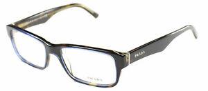1459336e56 Prada Eyeglasses PR 16MV ZXH1O1 53mm Tortoise Denim Rectangle Frame ...
