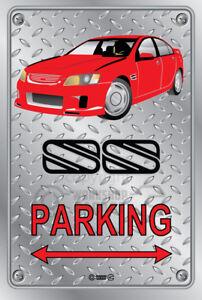 Parking-Sign-Metal-BROCK-HDT-VH-RETRO-SS-VE-RED-CHECKER-LOOK