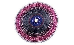 Fair-Trade-Blue-Hmong-Batik-Applique-Embroidered-Skirt-Original-Before-2000