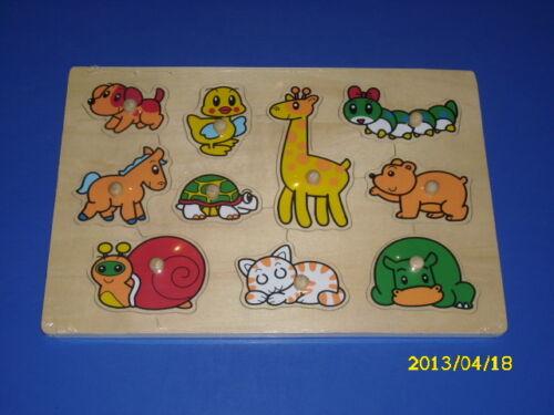 Puzzle 10 Teile Holzpuzzle Tiere Setzpuzzle Einlegepuzzle