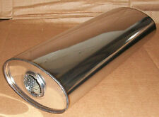 "7"" x 4"" Oval x 22"" Long universal stainless steel exhaust silencer"