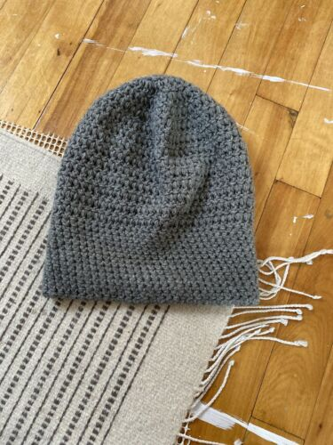 Oversized Knit Beanie Slouchy Hat Handmade Italy L