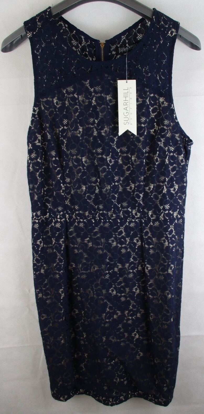 Ladies Sugar Hill Boutique Lace  Shift Dress Navy - NWT  UK Size 16