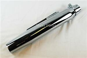 WASSELL-UNIVERSAL-CHROME-15-034-TAPERED-EXHAUST-SILENCER-CAFE-RACER-CUSTOM-WE38030