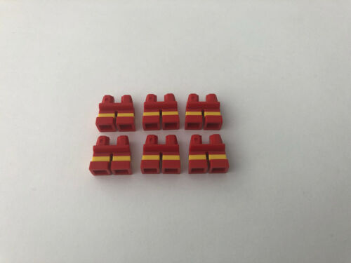LEGO 6 x Short Minifigure Legs Red Yellow 41879 90380 Boy Girl Child Parts