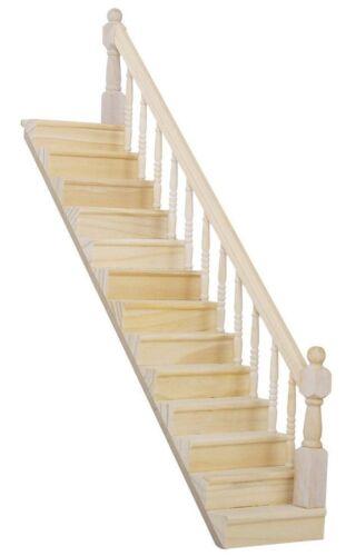 1:12 échelle maison de poupées escaliers prêt assemblé escalier avec rampe côté droit