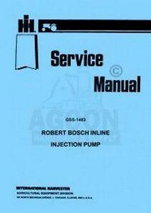 International Harvester Farmall Bosch Inline Injection Pump Service
