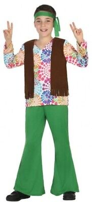 Ragazzi 1960s Hippie Hippy Carnevale Libro Giorno Costume Outfit 3-12 Anni-mostra Il Titolo Originale E La Digestione Aiuta