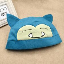 Cute KAWAII Pikachu Snorlax Cosplay Soft Hat Warm Cap Plush Anime Fan Gift