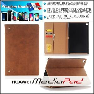 Etui-Coque-Housse-Cuir-PU-Leather-Stand-Wallet-Case-Cover-Huawei-MediaPad-M5-10