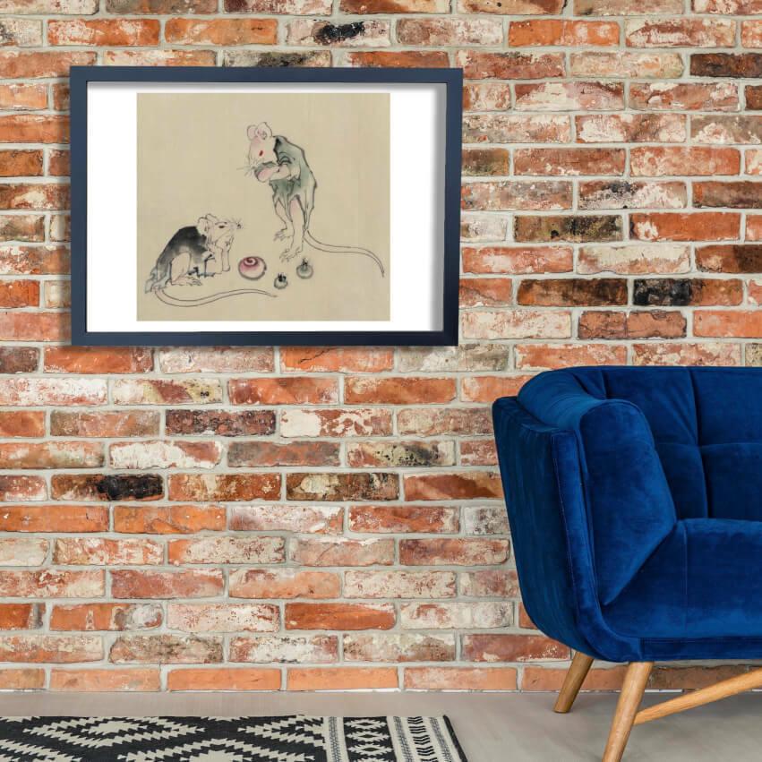 Katsushika Hokusai - Mice in council Wall Art Poster Print