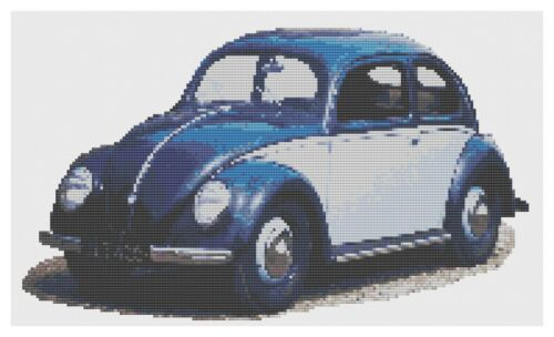 VW Beetle Split Window Cross Stitch Kit by Florashell
