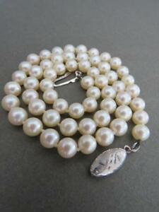 Vintage-Art-Deco-Silver-Pearl-Necklace-Choker