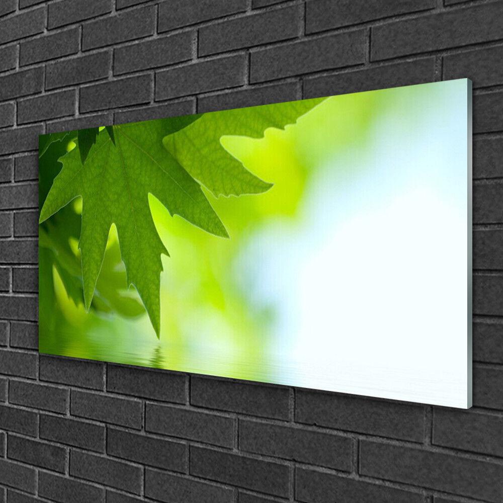Tableau sur verre Image Impression 100x50 Nature Feuilles