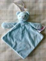 Tesco F&f Baby Blue Teddy Bear Comforter Blanket/dou Dou/soft Toy Discontinued