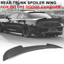 For 15-18 Dodge Charger OE Factory Style Gross Black ABS Rear Trunk Spoiler Wing