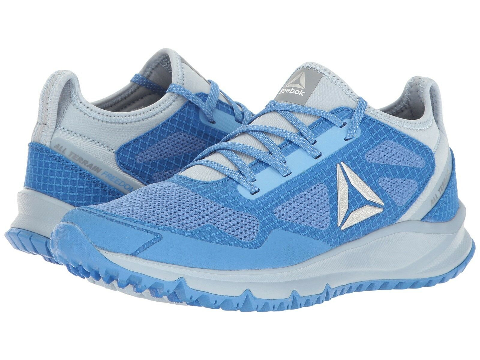 New Womens Reebok All Terrain Freedom Running shoes Size 9 bluee Grey MSRP