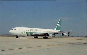 PAKISTAN INTERNATIONAL PIA AIRLINES CARGO BOEING 707-373C AP-AWU POSTCARD