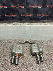 2018 FORD MUSTANG GT OEM QUAD TIP MUFFLERS EXHAUST -SCRAPED-