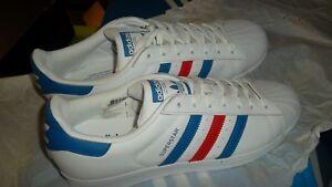 regla estrategia Medio  Adidas Superstar 60s 70s Genuine Originals Red White and Blue Brand New  11.5 US | eBay