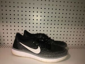 Nike-Free-RN-Distance-Mens-Athletic-Running-Training-Shoes-Size-11-Black-Gray