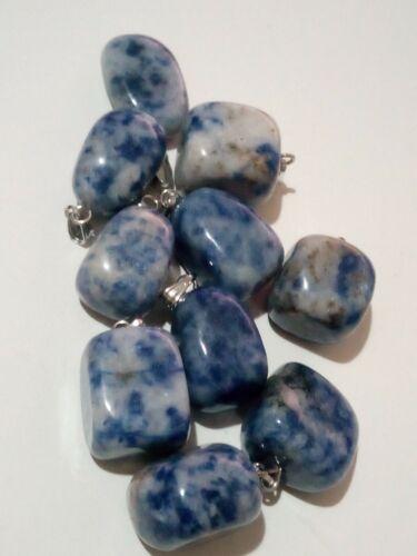 Colgante Sodalita azul natural piedras naturales 1 UNIDAD 20 mm aprox.