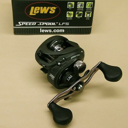 Lew's Velocidad Carrete LFS LFS LFS bajo perfil Carrete Giratorio 7.5  1 mano izquierda Lews no. 1 Manga Corta Argamasa daeff5