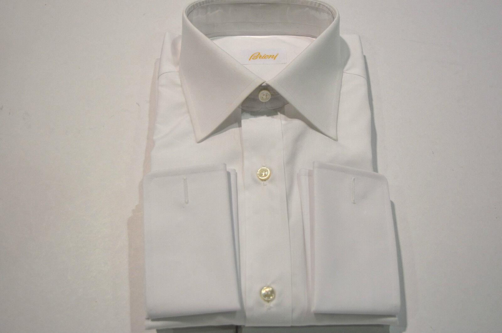 NEW  BRIONI Dress hemd 100% baumwolle Größe 17.75  Us 45  Eu (Cod GE 1)