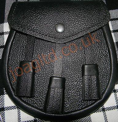 Marchio Popolare Kilt Lo Sporran & Catena Cinturino In Pelle Cintura E Gratuito Cintura Chan-mostra Il Titolo Originale Forte Imballaggio