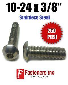"3//8-16 x 3//4/"" Button Head Socket Cap Screw Stainless Steel Screws UNC Qty 250"