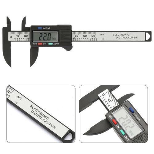 4inch LCD Digital Electronic Carbon Fiber Vernier Caliper Gauge Micrometer GS
