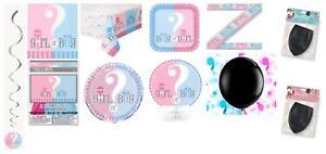 BOY-Girl-SESSO-rivelare-Baby-Shower-Party-Supplies-Stoviglie-Decorazioni-Girl